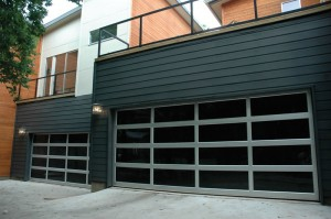 contemporary style glass garage door prescott az